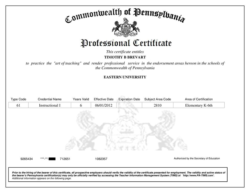 Rsum Certificates